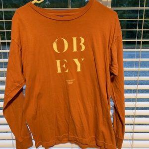 Salmon Obey Long sleeve t shirt